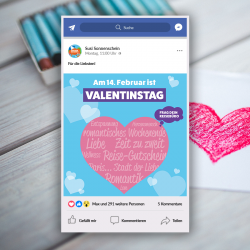 Valentinstag Facebook Post